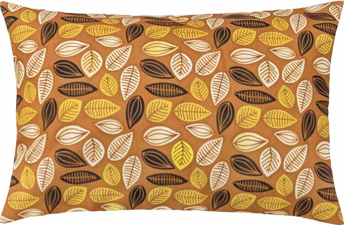 Capa de Almofada  Fascínio Laranja Folhas com 1 peças