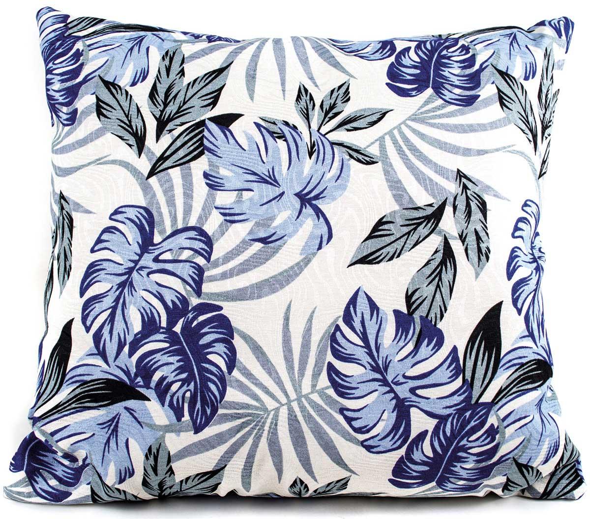 Capa de Almofada Molinara  Floral Azul com 1 peças em