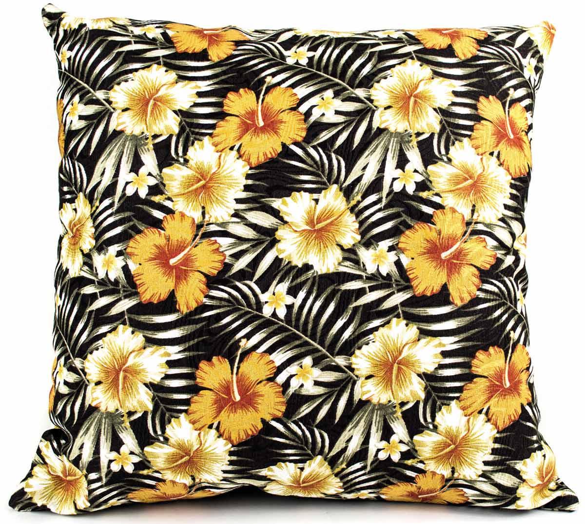 Capa de Almofada Molinara  Floral Marrom com 1 peças em