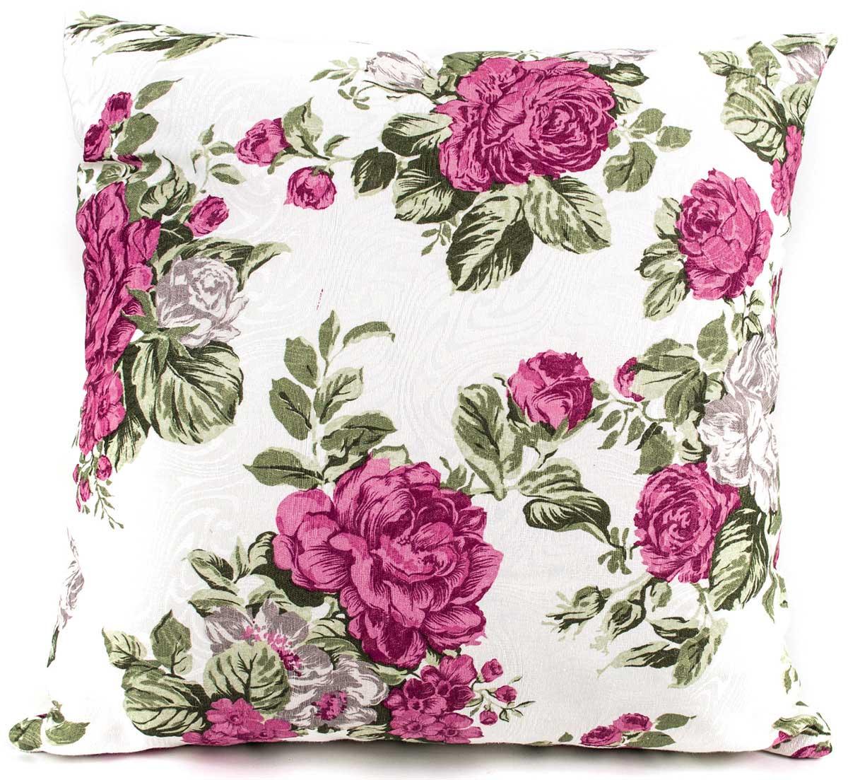 Capa de Almofada Molinara  Floral Pink com 1 peças em