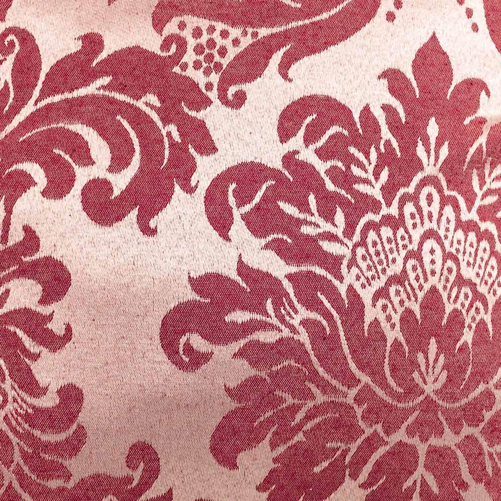 Capa de Almofada Molinara  Floral Vermelho com 1 peças em