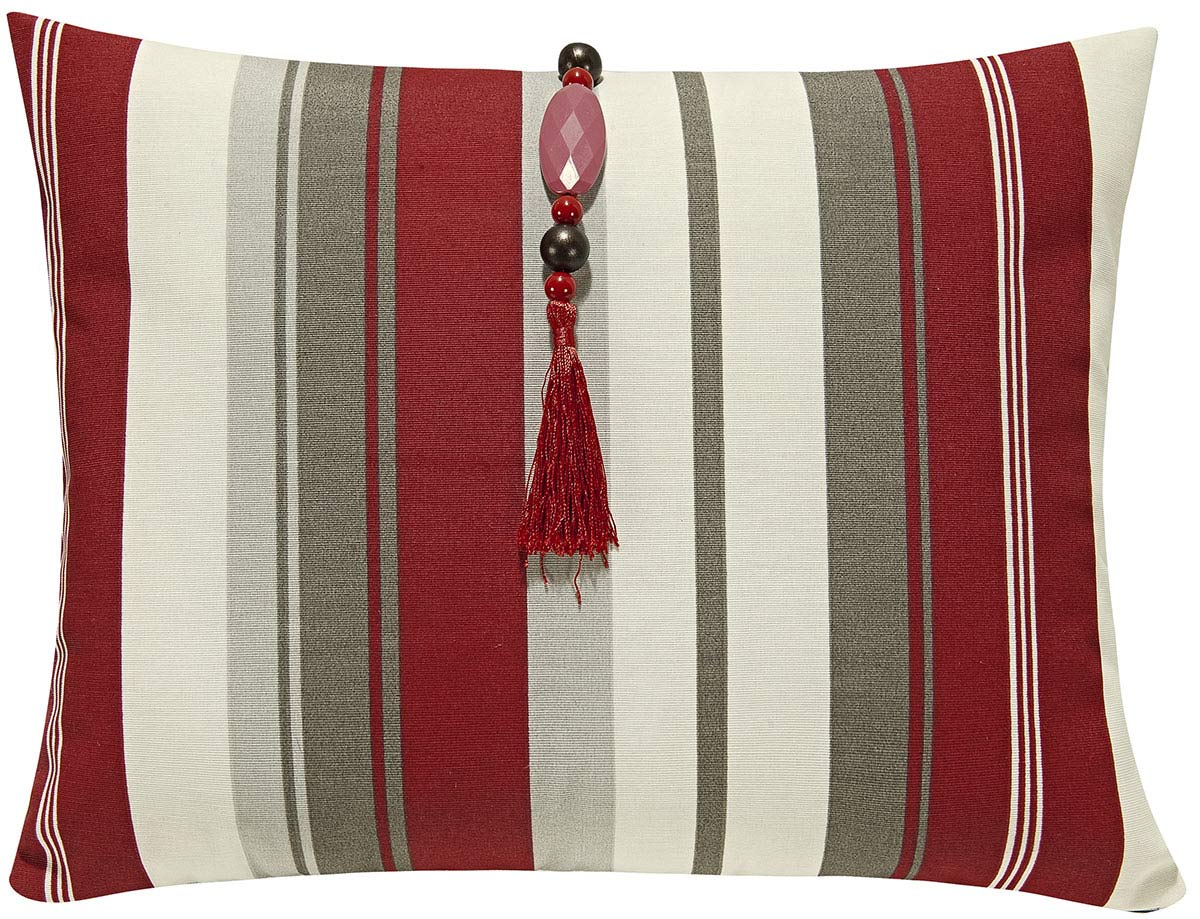 Capa de Almofada + Refil   Vermelho em Algodão e Poliéster com 2 peça