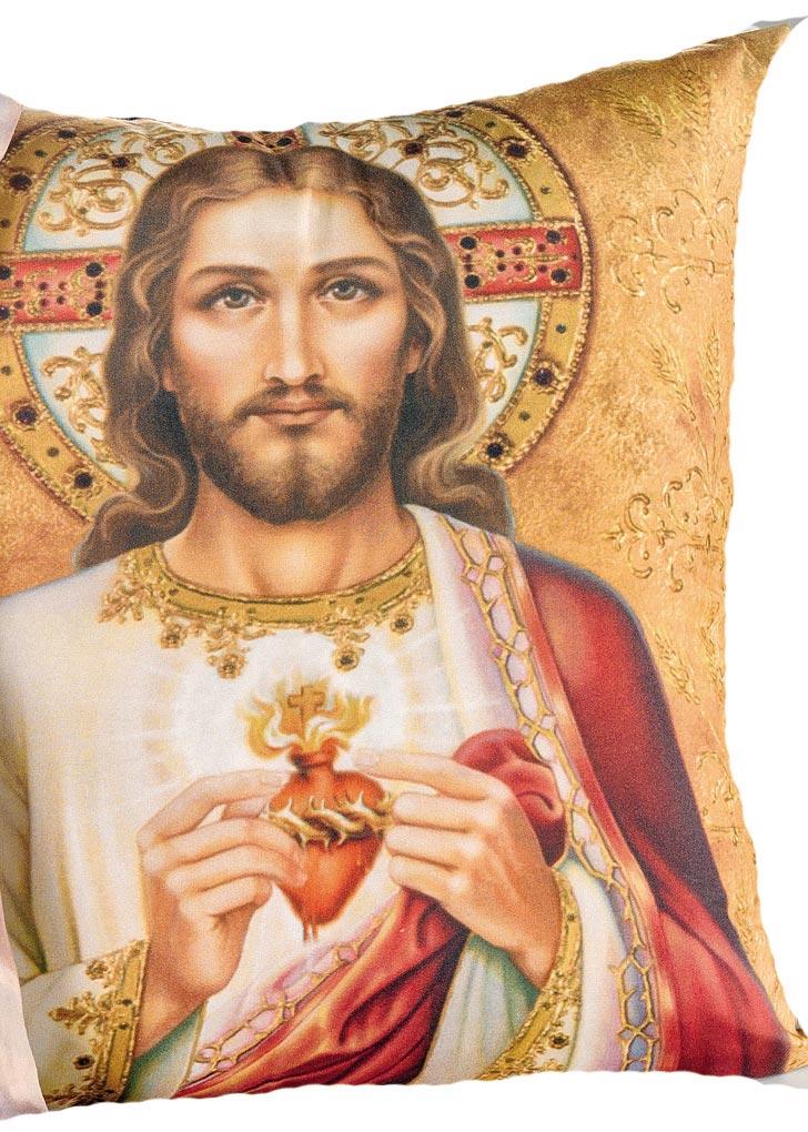 Capa de Almofada Religiosa  Jesus Cristo com 2 peças em