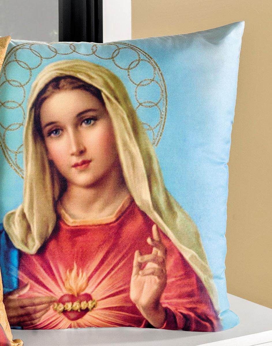 Capa de Almofada Religiosa  Nossa Senhora com 2 peças em