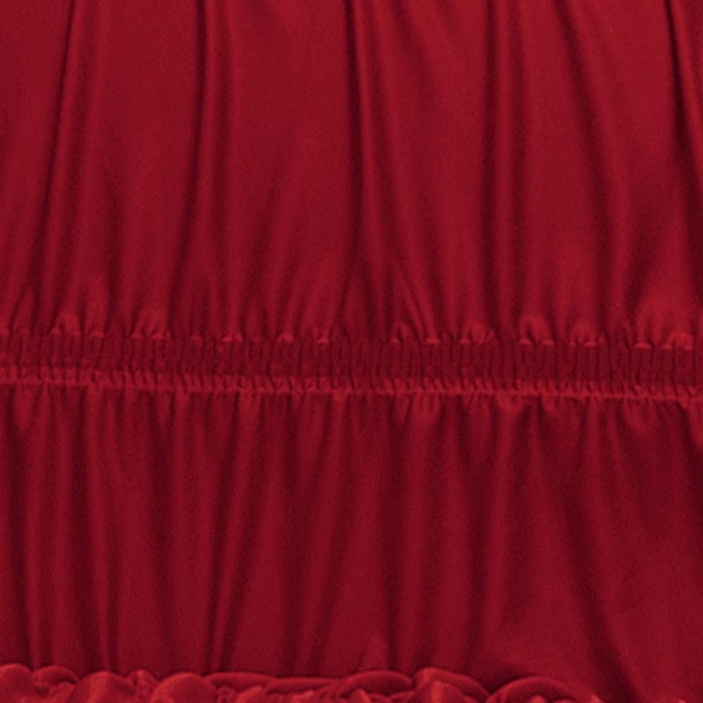 Capa de Sofá  Bruna Vermelho em Poliéster com 2 peça