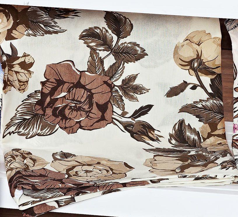 Capa de Travesseirão Rafaela Tabaco 1,40m x 45cm com 1 peça