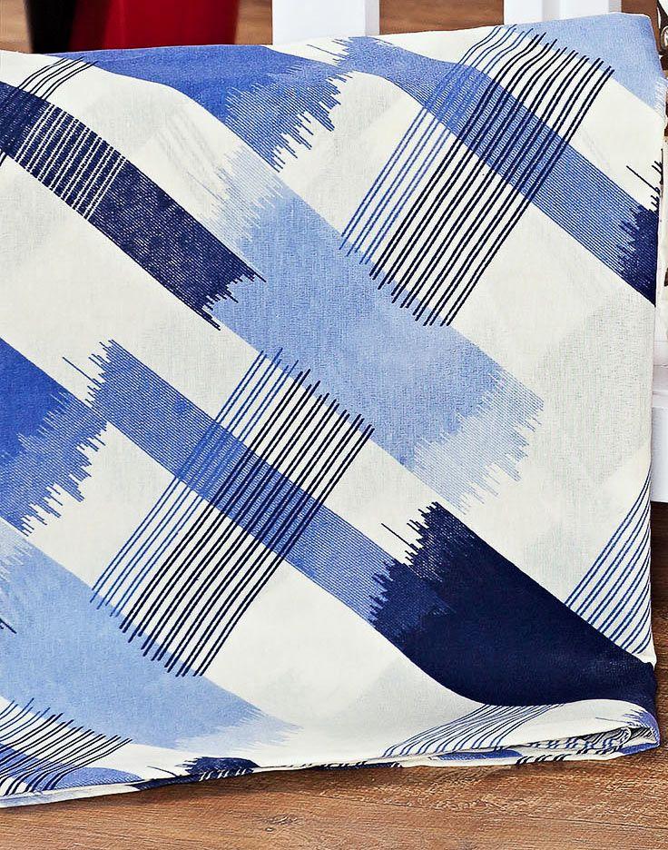 Capa de Travesseirão Rafaela Xadrez Azul 1,40m x 45cm com 1 peça