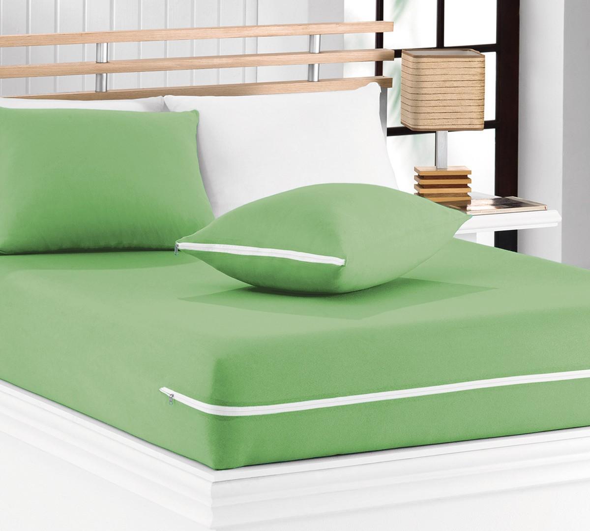 Capa de Travesseiro Mascali  Verde Nille com 1 peças em Algodão