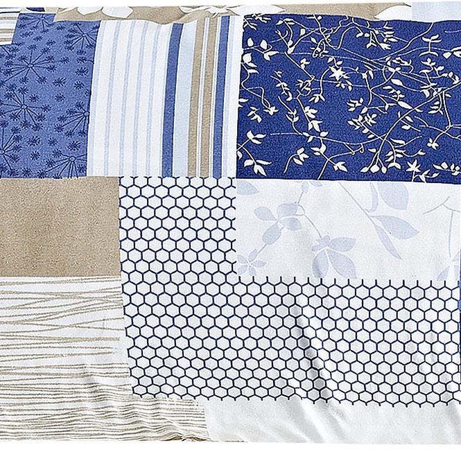 Capa para Travesseirão (xuxão) com Ziper 1,40m x 50cm Rafaela Azul Estampado com 1 peças