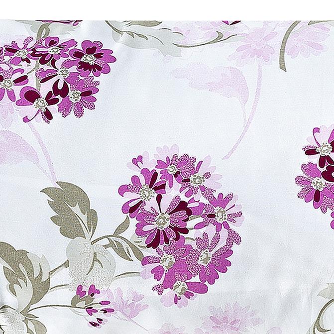 Capa para Travesseirão (xuxão) com Ziper 1,40m x 50cm Rafaela Flores Estampado com 1 peças