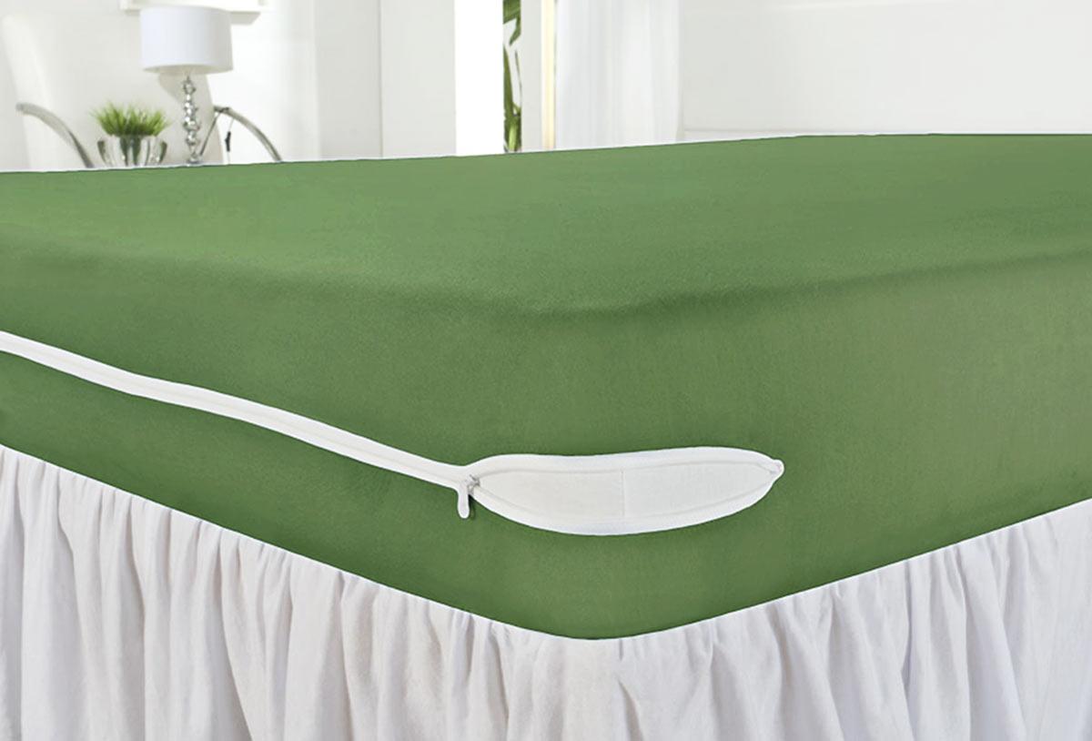 Capa Protetora de Colchão Solteiro Revest Verde com 1 peças em Algodão