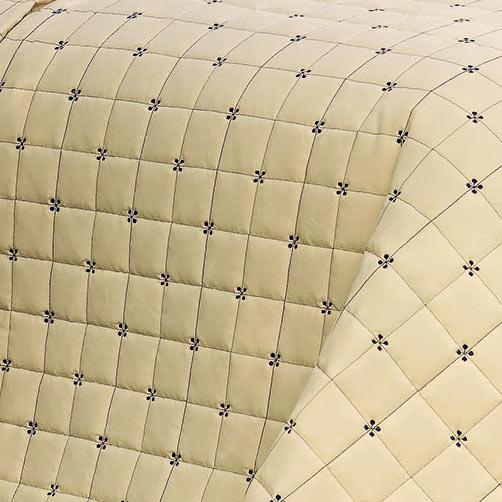 Cobre Leito Casal Estampado Super King Lomani Areia com 3 peças em Algodão e Poliéster