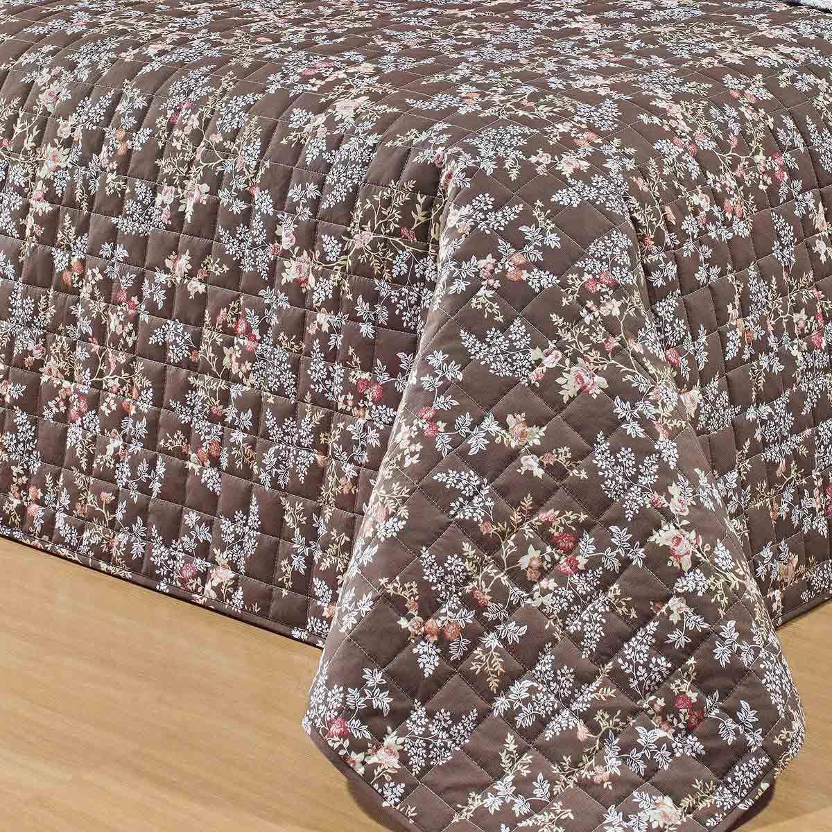 Cobre Leito Casal King Coleção Nobre Percal 200 Fios Florida com 3 peças