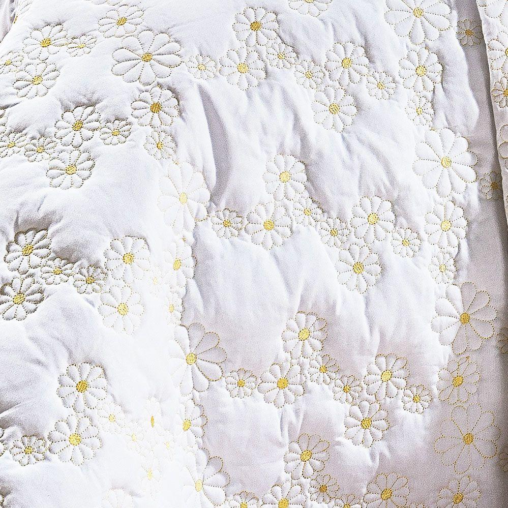 Cobre Leito Nuance Queen Branco com 3 peças