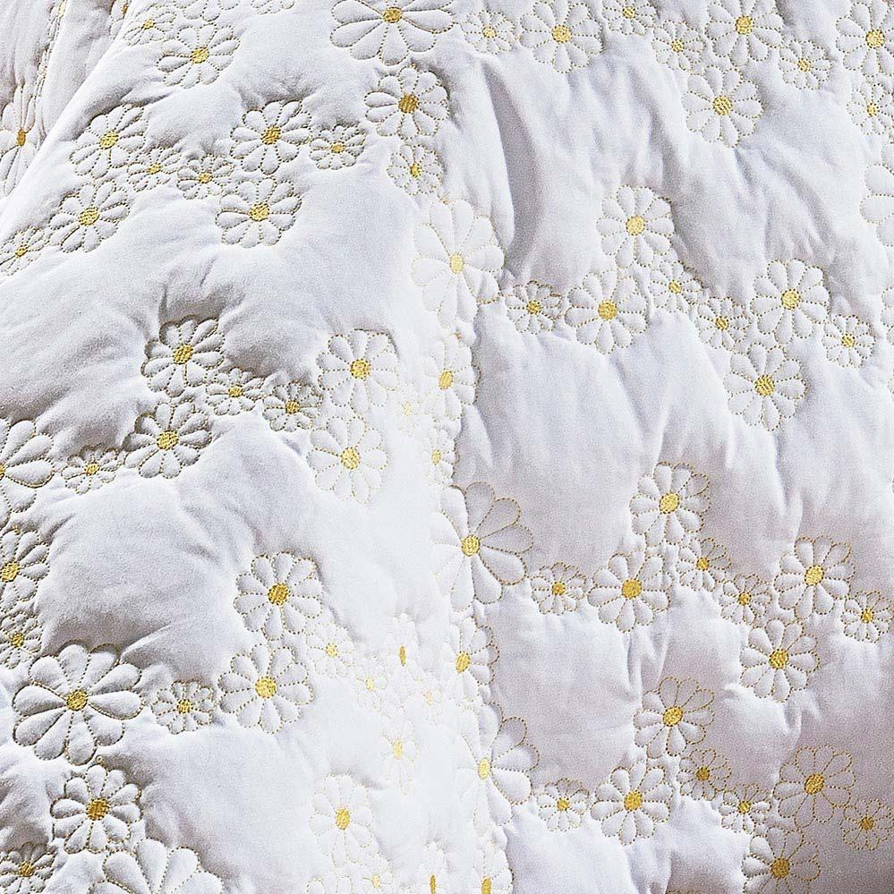 Cobre Leito Queen Coleção Nuance Branco Algodão 200 Fios com 3 peças