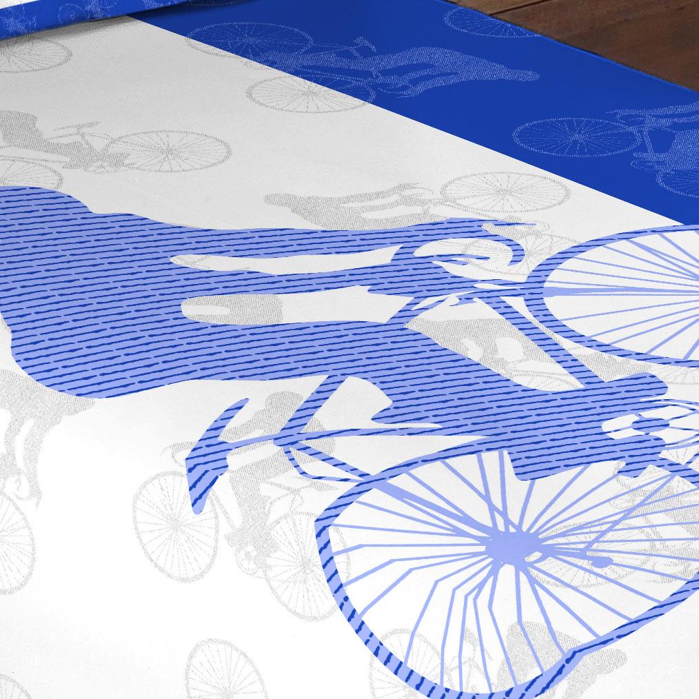 Cobre Leito Solteiro Dakar Bicicleta com 1 peças em Algodão e Poliéster