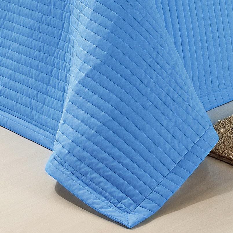 Cobre Leito Solteiro Tropical Azul Royal com 2 peças em Algodão e Poliéster