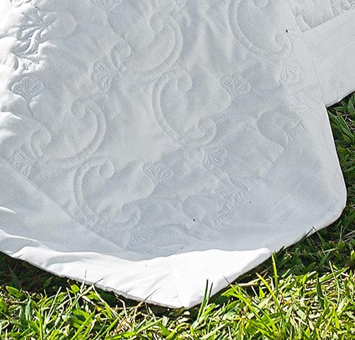 Cobre Leito Super King Morana Branco com 3 peças em Algodão e Poliéster