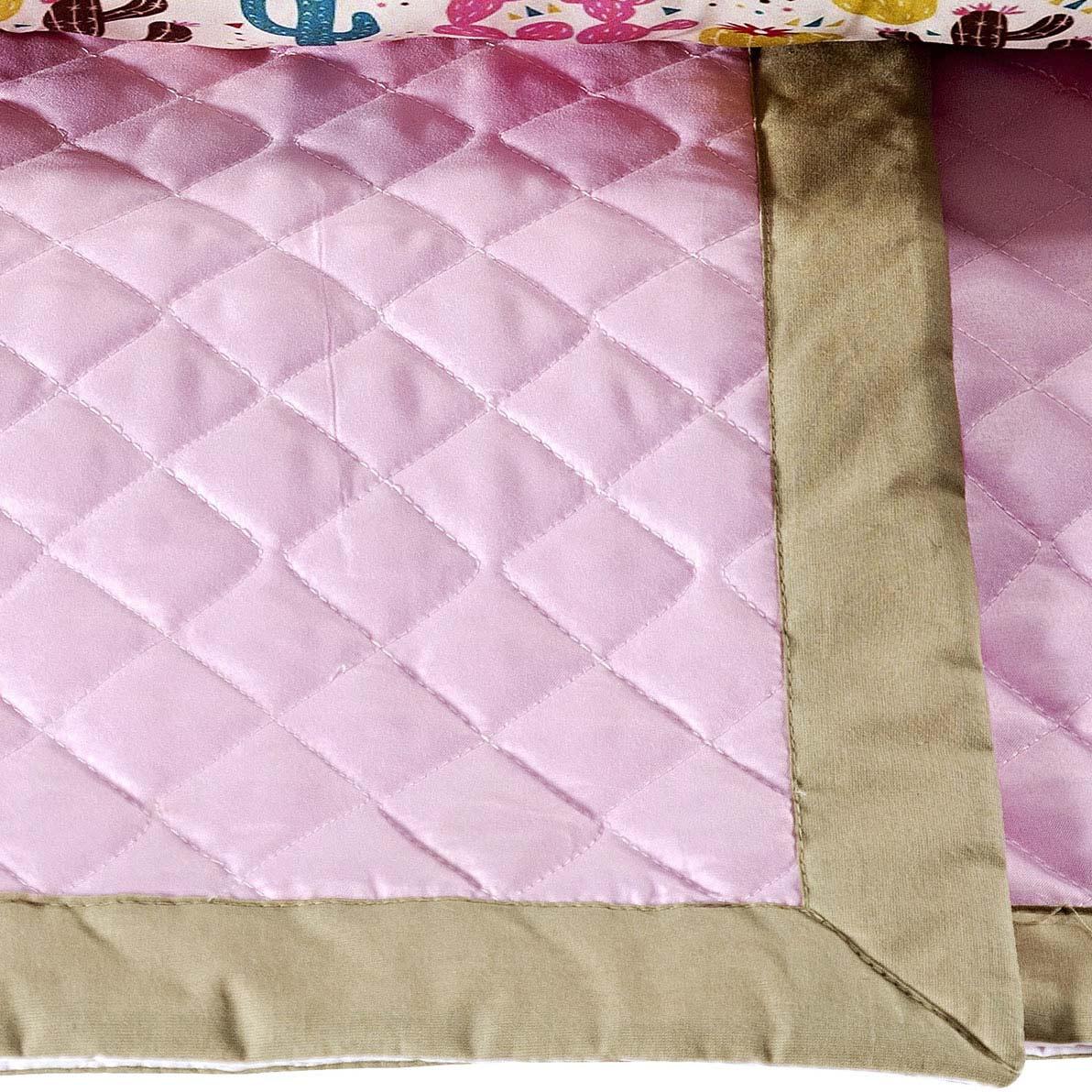 Cobre Leito (+ Travesseiro) Solteiro Cactos Fofuxo 2 peças Poliéster