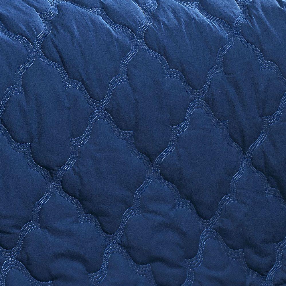 Cobre Leito Village King cor Azul com 3 peças