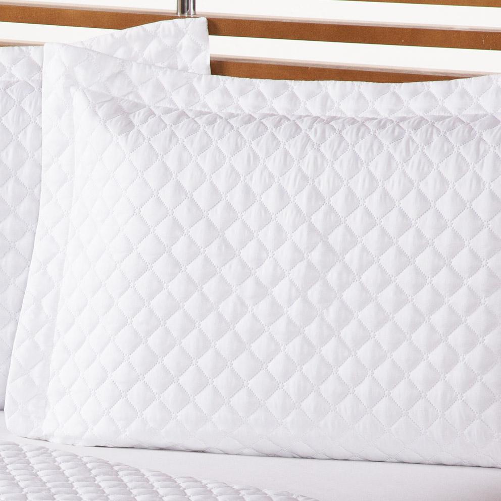 Colcha Cama Life Clean Queen Branco com 3 peças - Dupla Face
