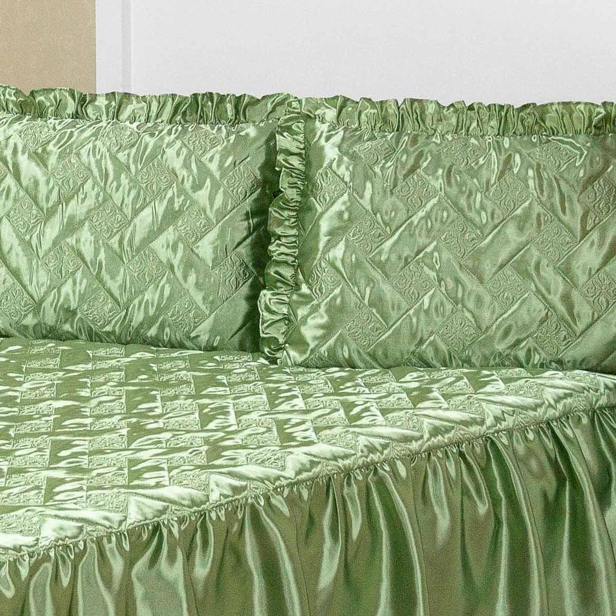 Colcha Casal Mirela 3 peças  - Verde