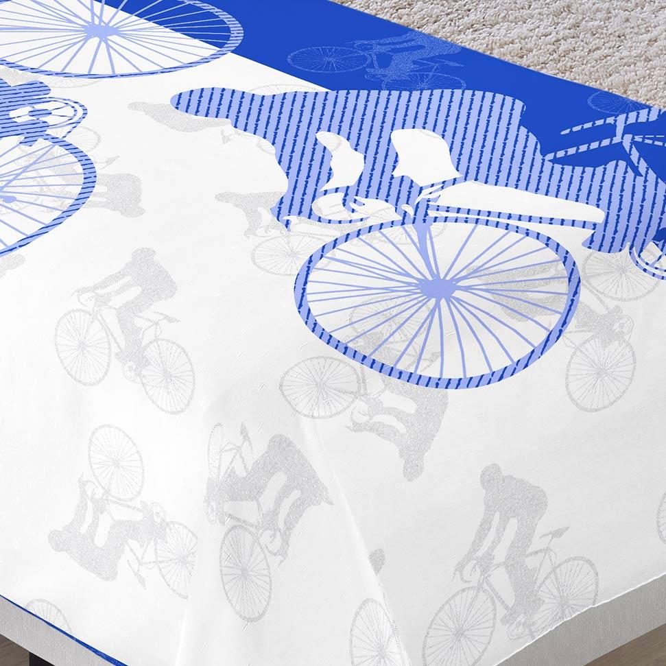 Colcha/Cobre-Leito Cama Solteiro Bicicleta Menino com 2 peças - Colcha + Porta Travesseiro