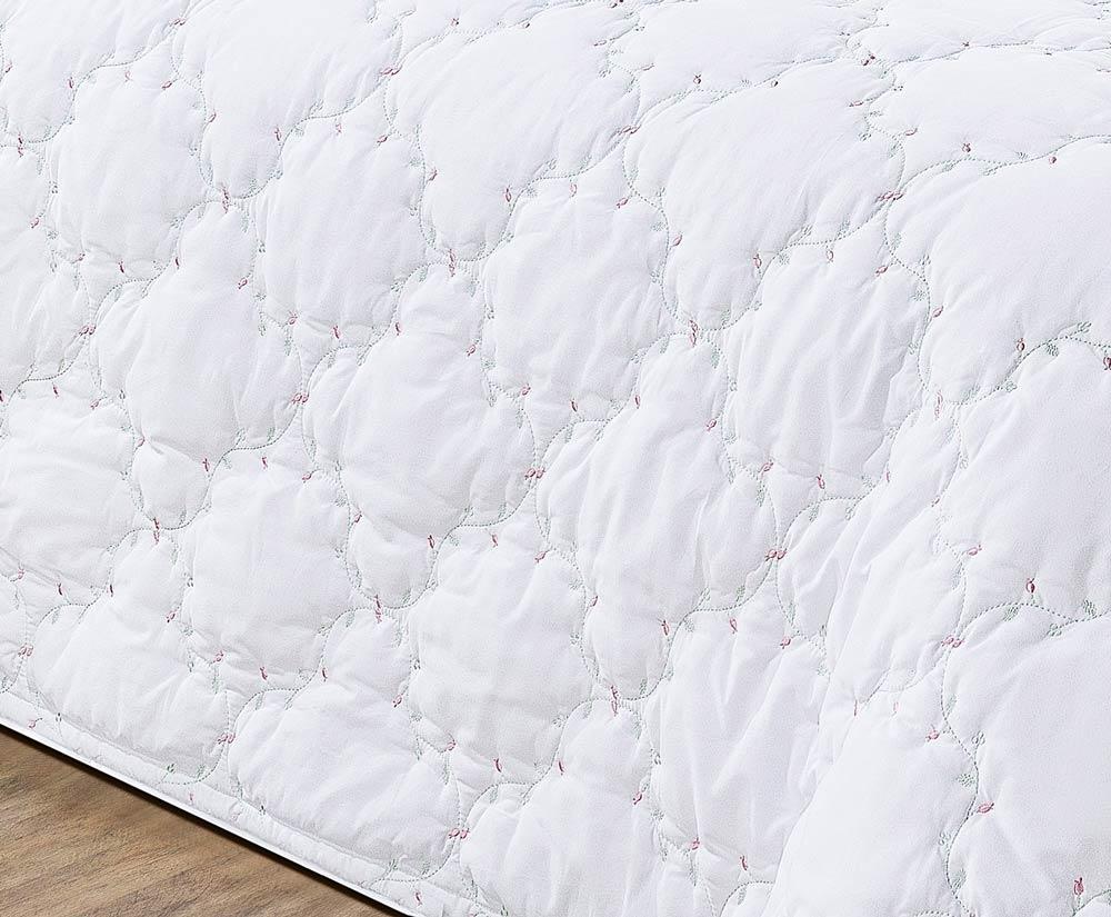 Colcha / Cobre Leito Cama King Size Branco Percal 200 fios com 3 peças - CobreLeito Serenita