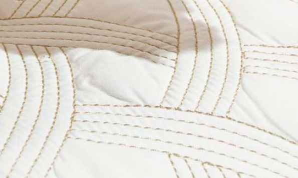 Colcha / Cobre Leito Cama King Size Percal 200 fios com 3 peças - CobreLeito Amande