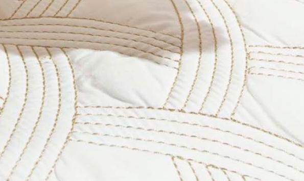 Colcha / Cobre Leito Cama Super King Size Percal 200 fios com 3 peças - CobreLeito Amande