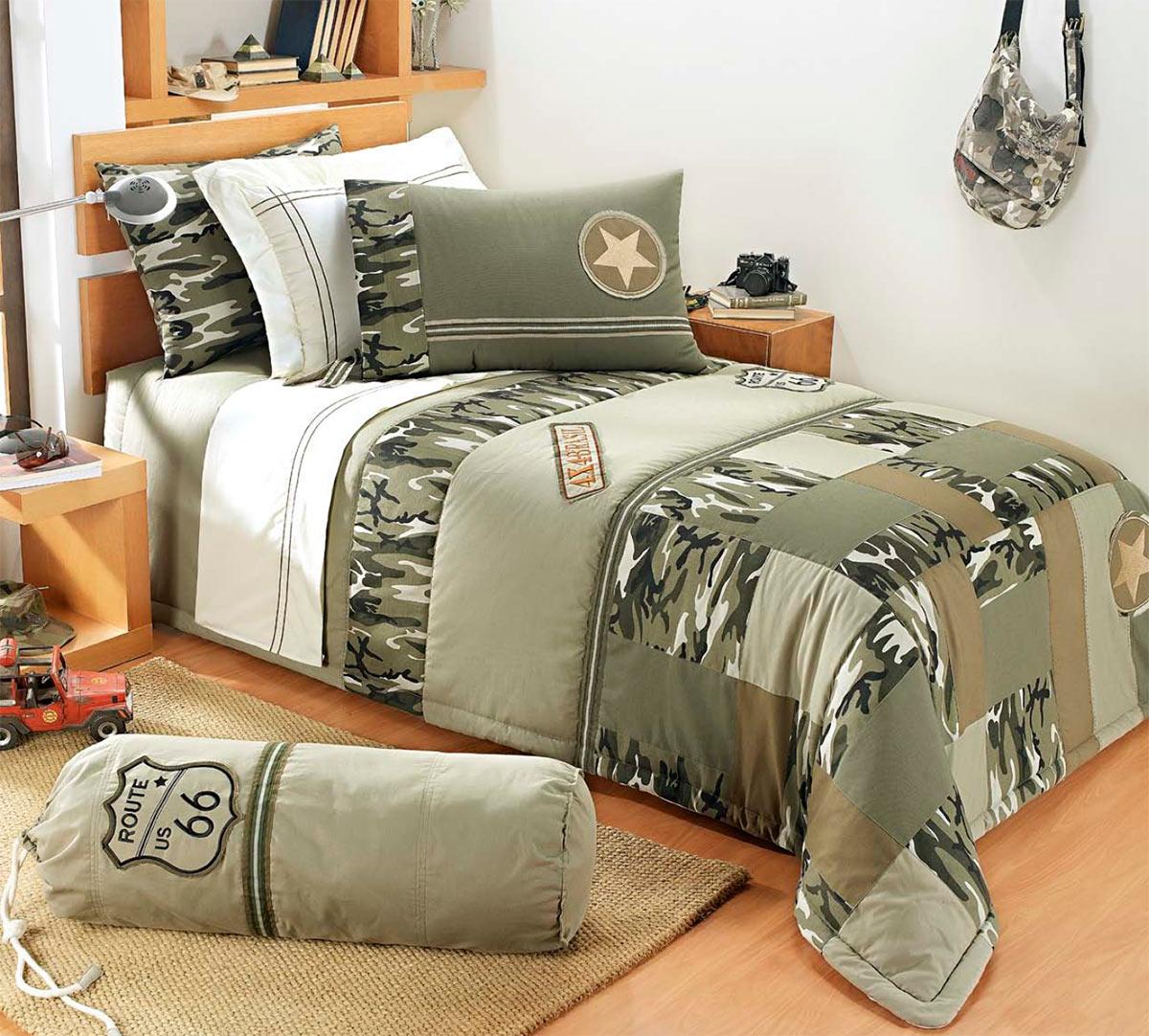 Colcha de cama solteiro verde 150 fios com 4 pe as - Colchas para camas de 150 ...