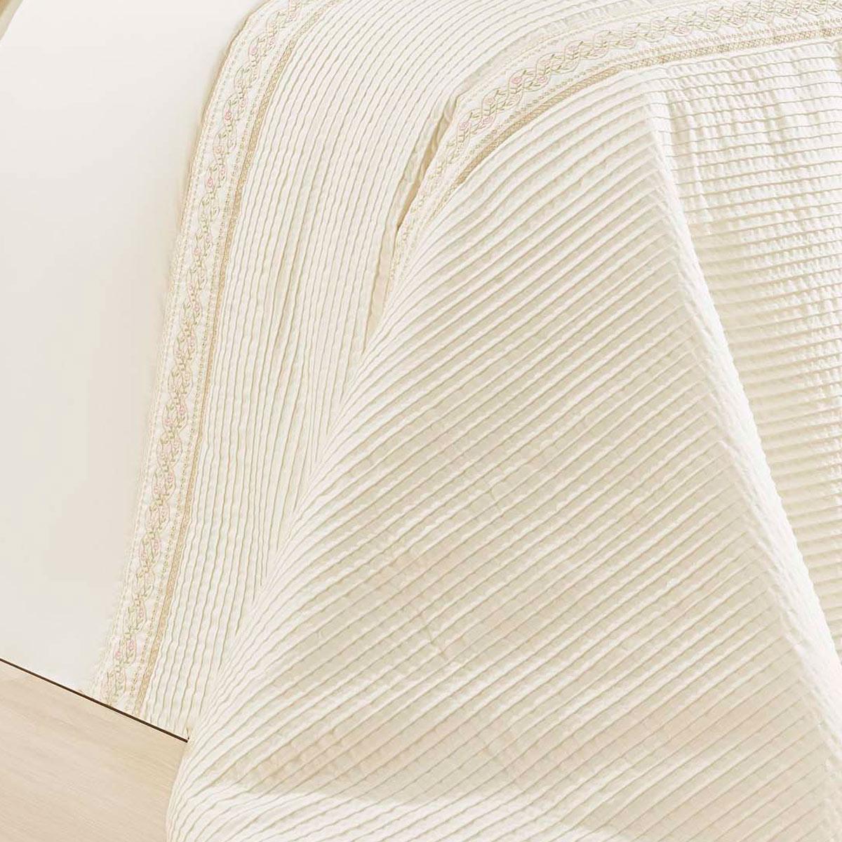 Colcha de Cama Cama Super King Size Palha Percal 200 fios com 7 peças - Colcha Lumiere