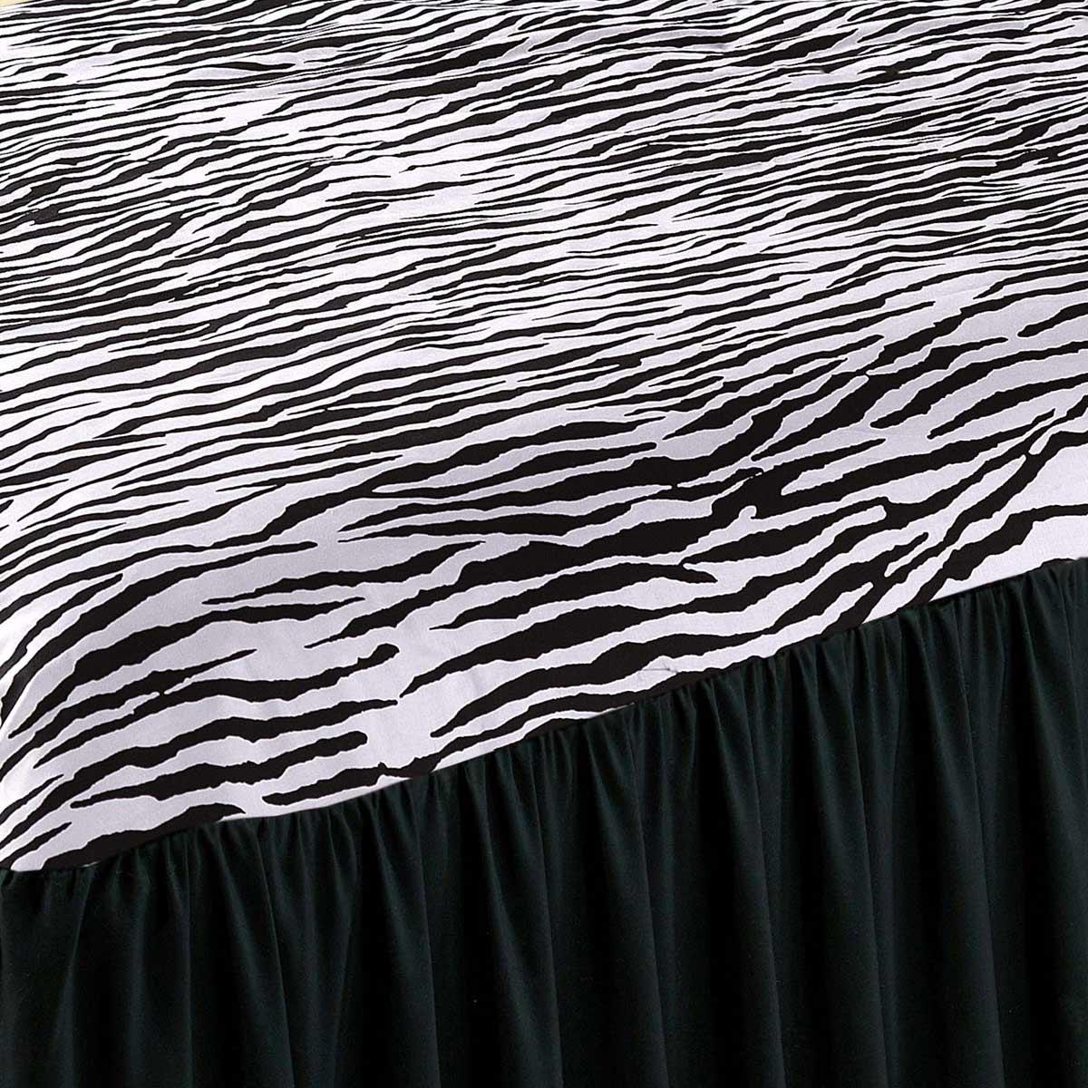 Colcha Felina Casal Zebra com 5 peças Poliéster e Polipropileno