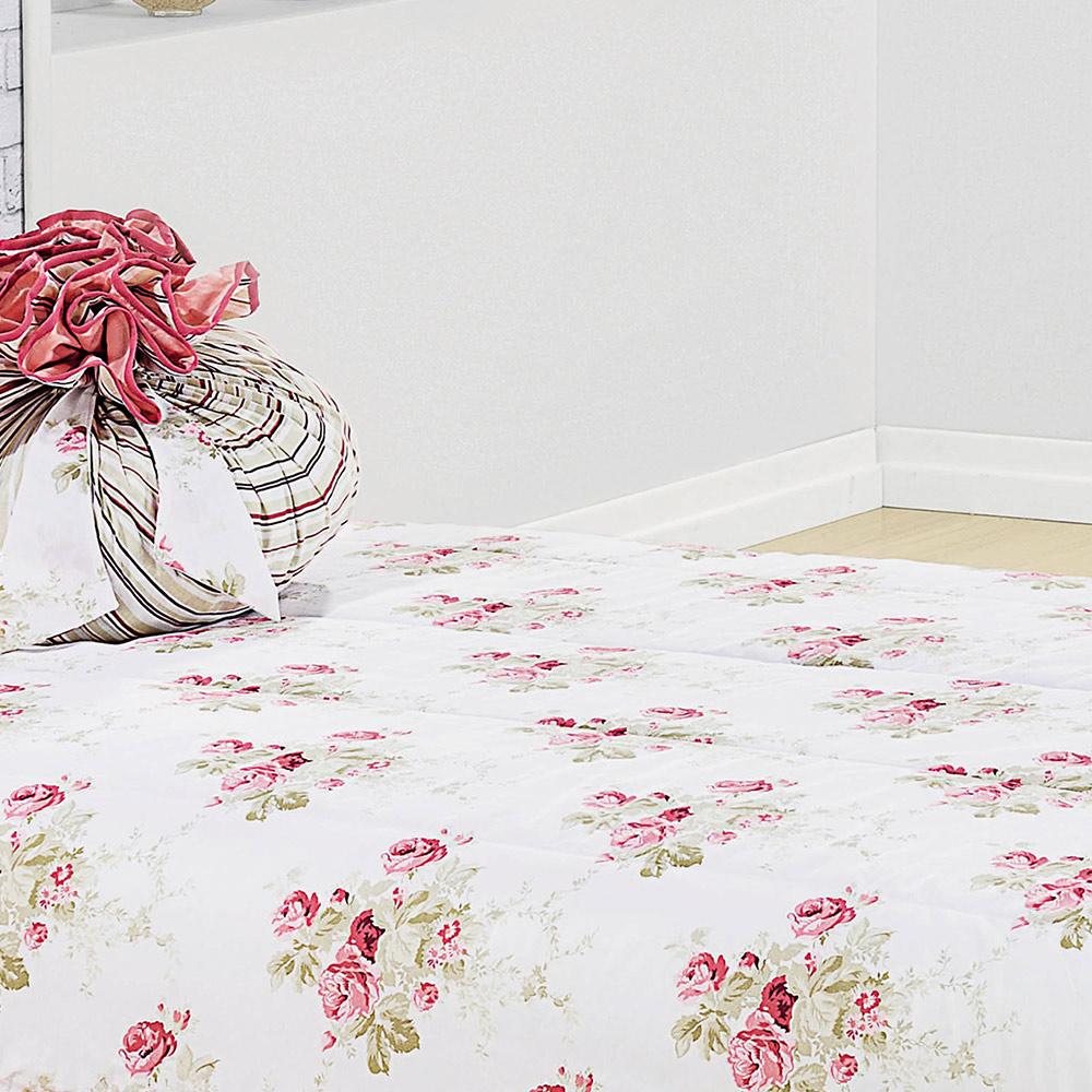 17a3abf53d ... Colcha Solteiro Amarilis Rose Floral com 4 peças - Casa Sua Beleza