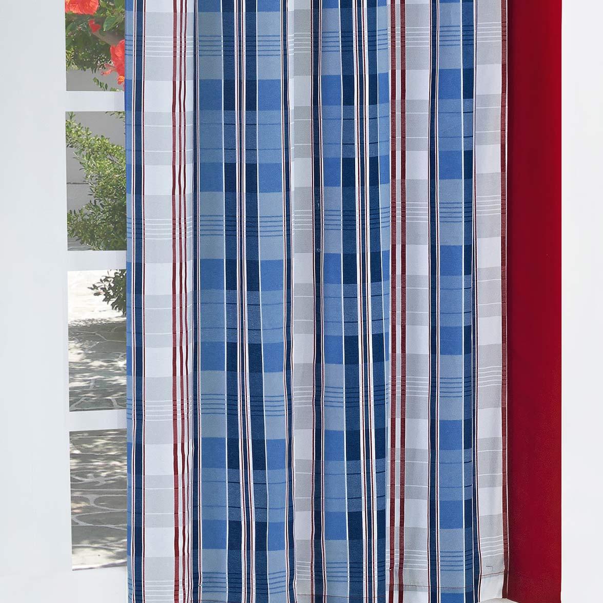 Cortina 2 metros America Estampado em Algodão e Poliéster com 1 peça