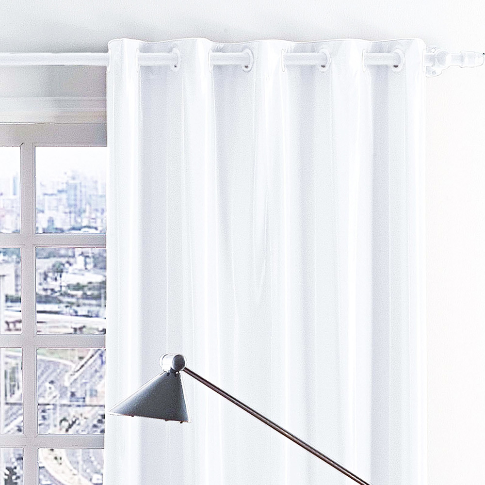 Cortina 2 metros Blackout Branco Corta Luz com 1 peças