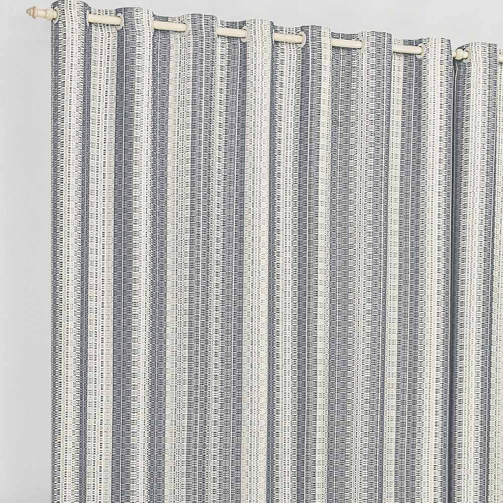 Cortina 2 metros Califórnia Cinza Listras  com 1 peças