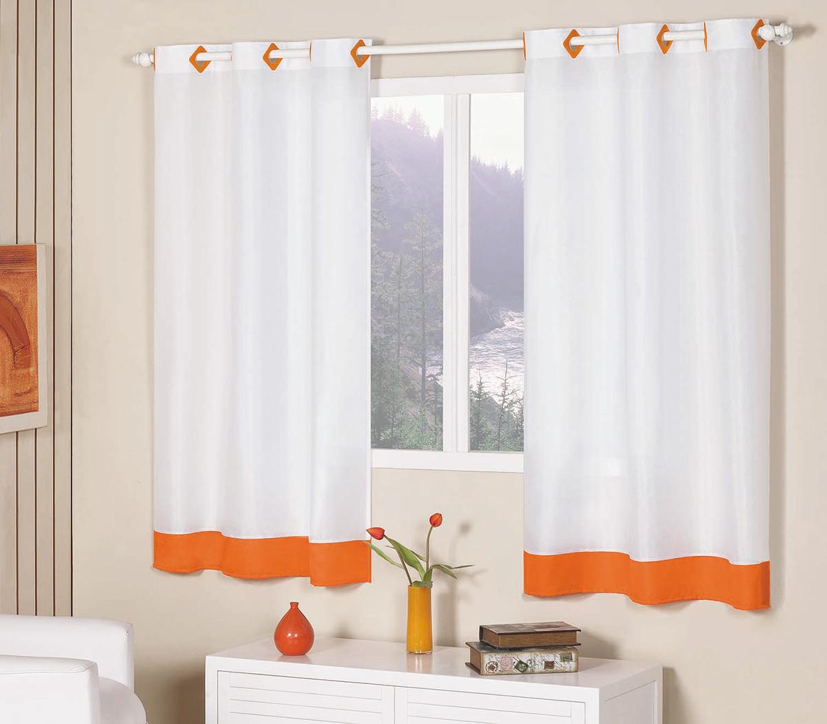 Cortina 2 metros cortina glamour laranja com 1 pe as em - Cortinas por metros ...