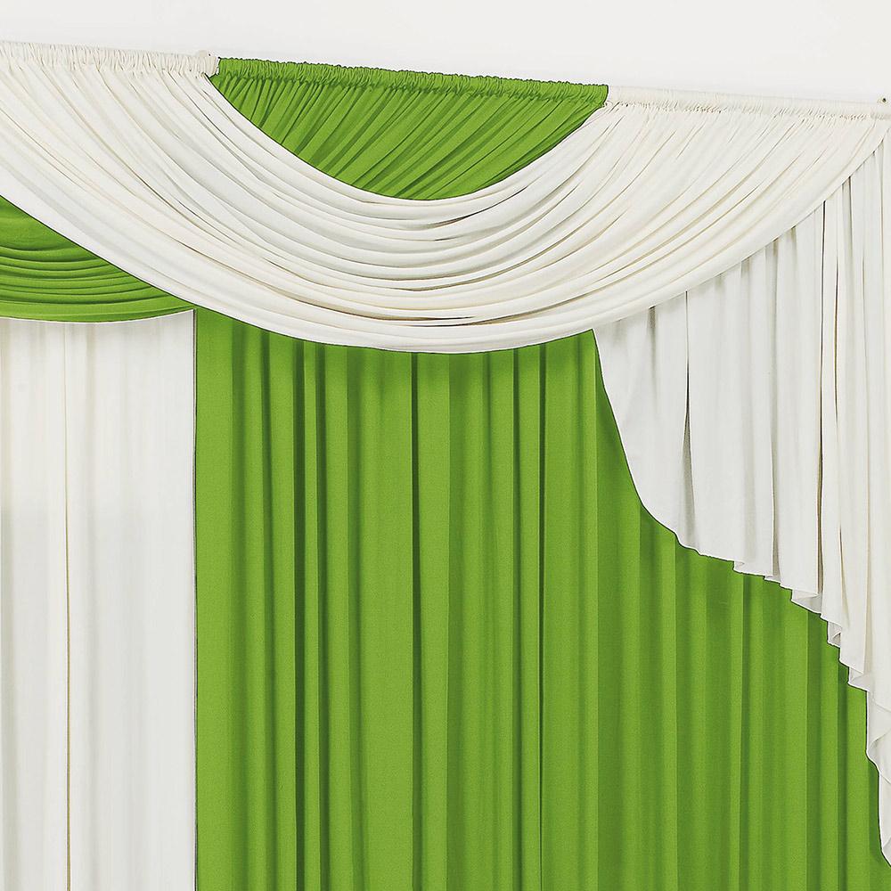 Cortina 2 metros Elegancy Verde  com 1 peças