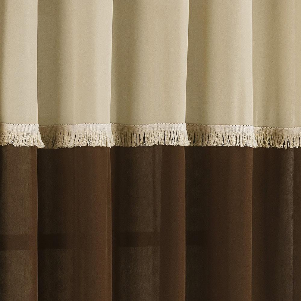 Cortina 2 metros Ellus Tabaco em Poliéster com 1 peça
