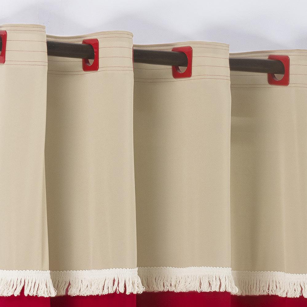Cortina 2 metros Ellus Vermelho em Poliéster com 1 peça