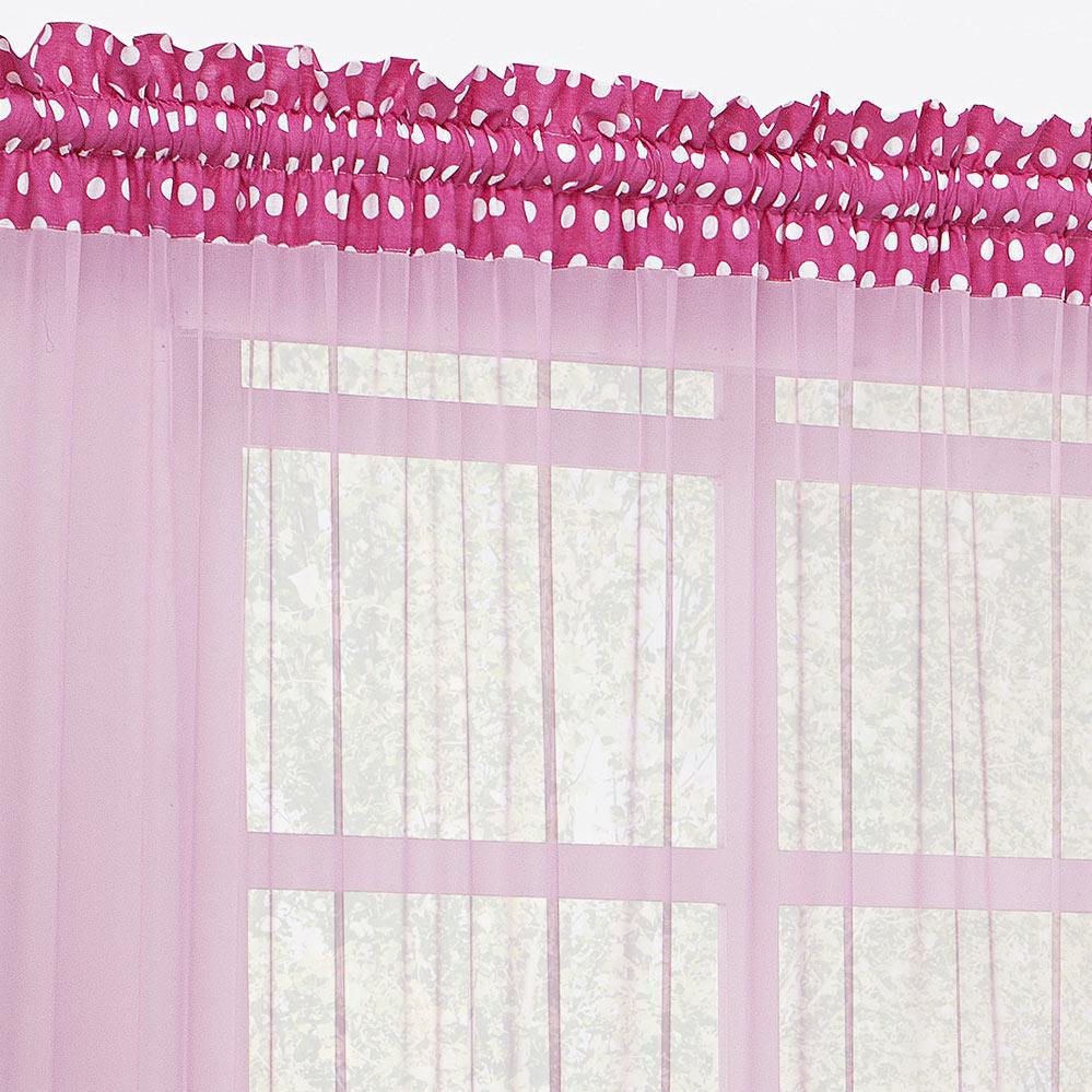 Cortina 2 metros Geovanna Pink em Poliéster com 1 peça
