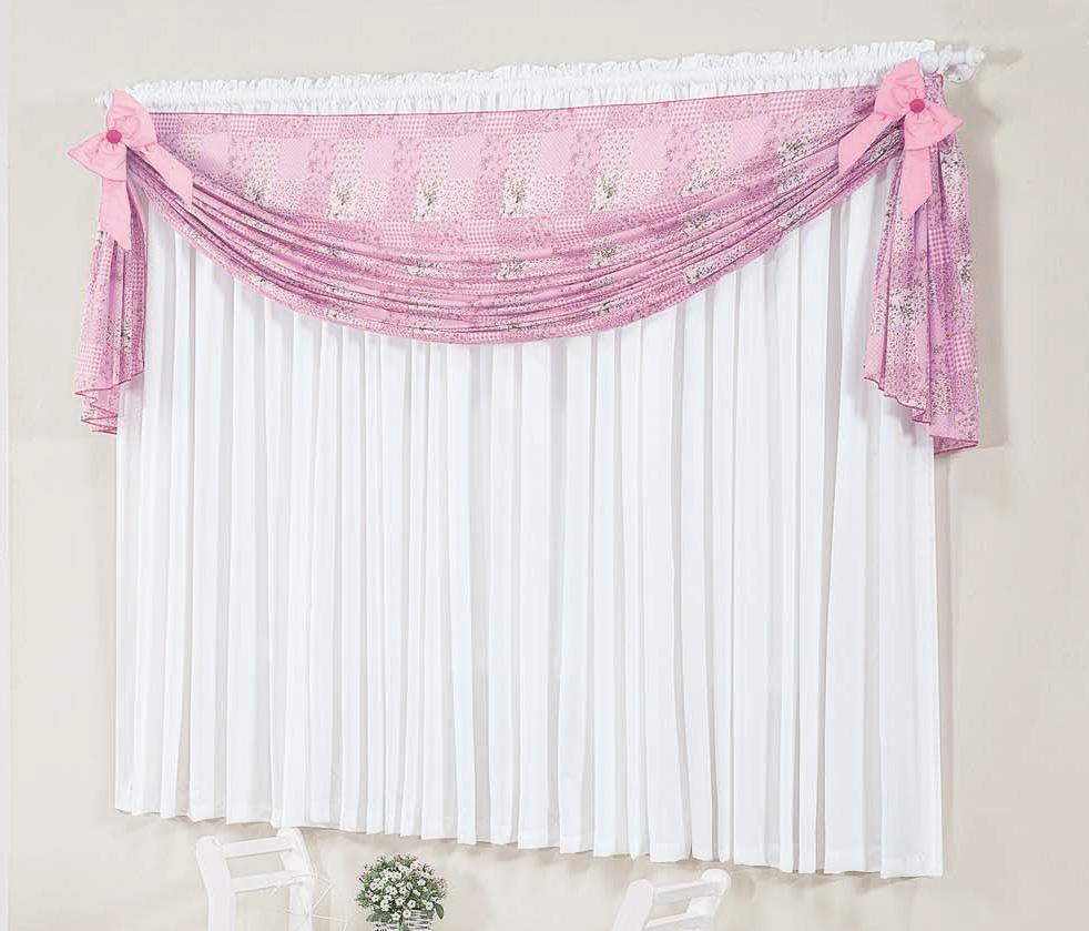 Cortina 2 metros Kit Petit  Pink com 1 peças em 100% Algodão