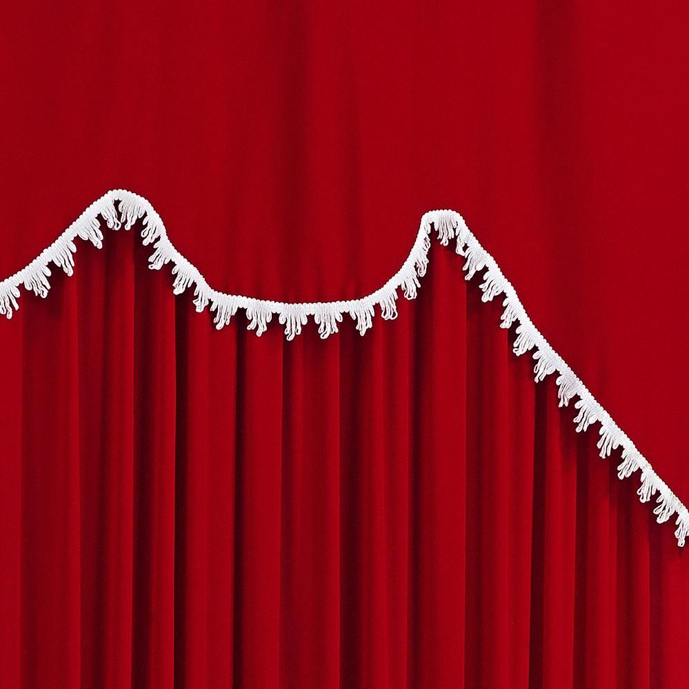 Cortina 2 metros Maya Vermelho em Poliéster com 1 peça