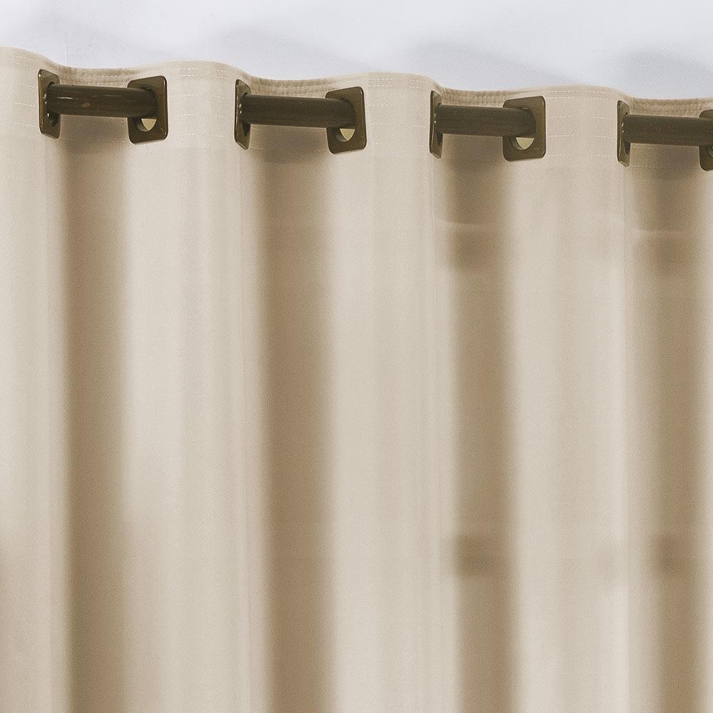 Cortina 2 metros Vitton Caqui em Poliéster com 1 peça