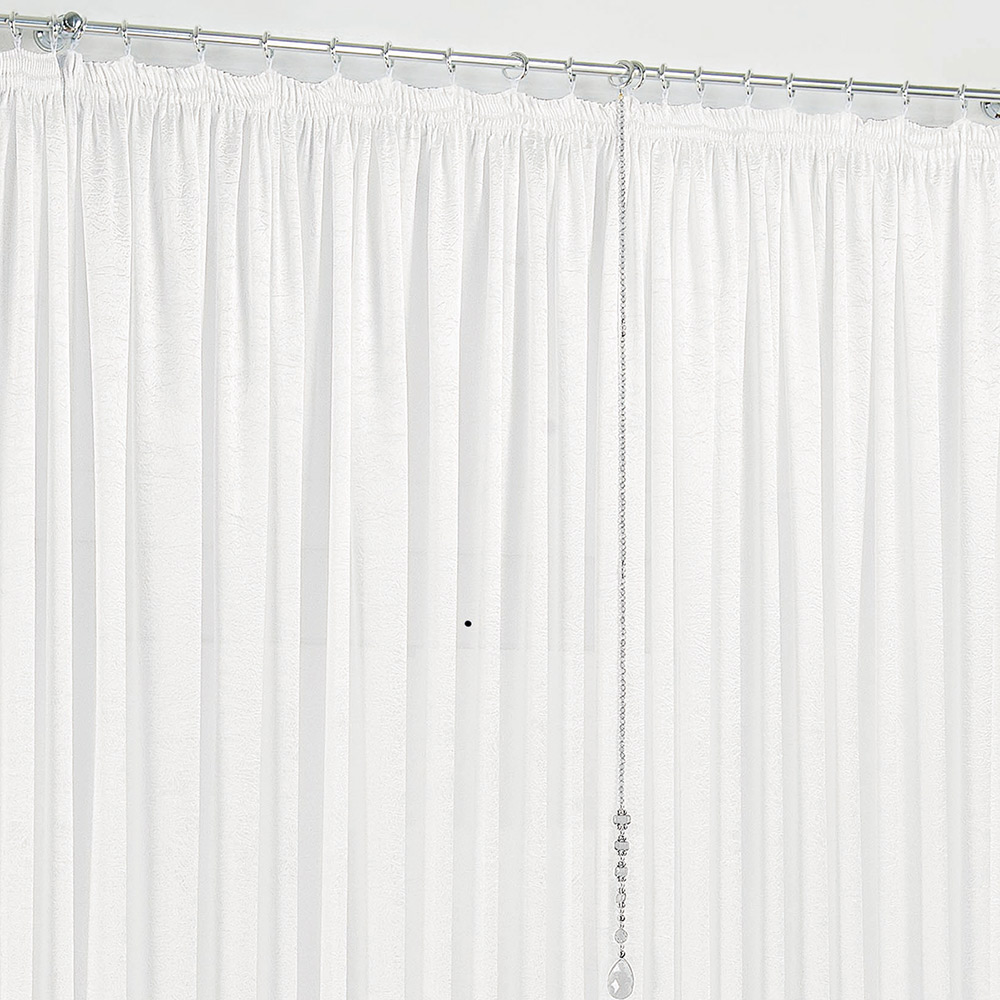Cortina 3 metros Amore Branco Liso com 1 peças