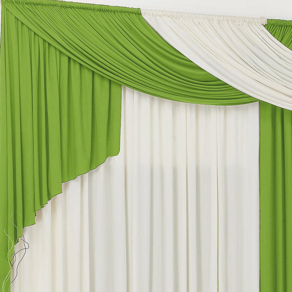 Cortina 3 metros Elegancy Verde  com 1 peças
