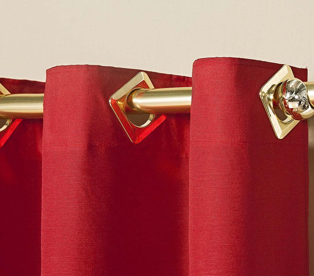 Cortina 3 Metros Ipanema Vermelho com 1 peças em Algodão e Poliéster