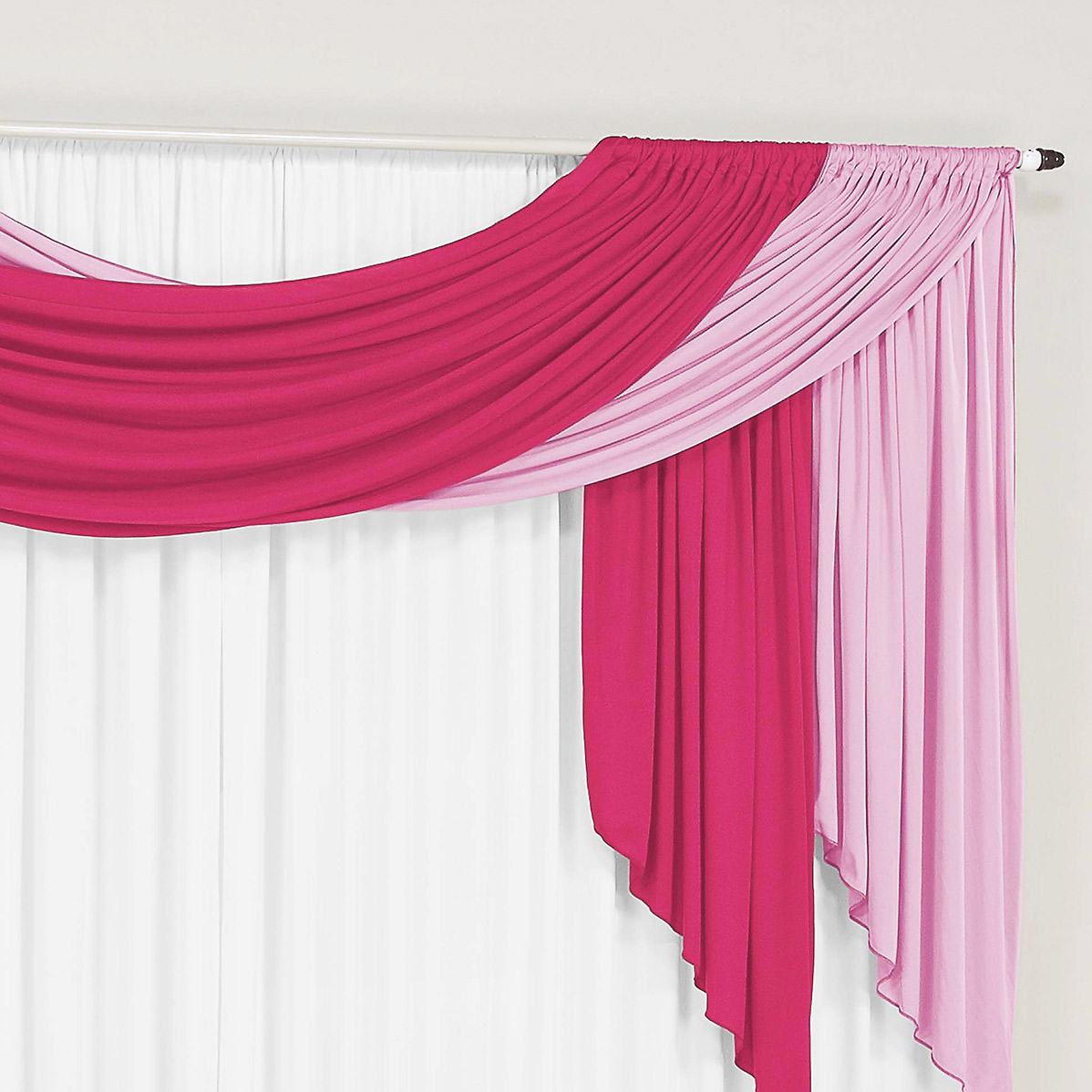 Cortina 3 metros Isabela Pink Rosa  com 1 peças