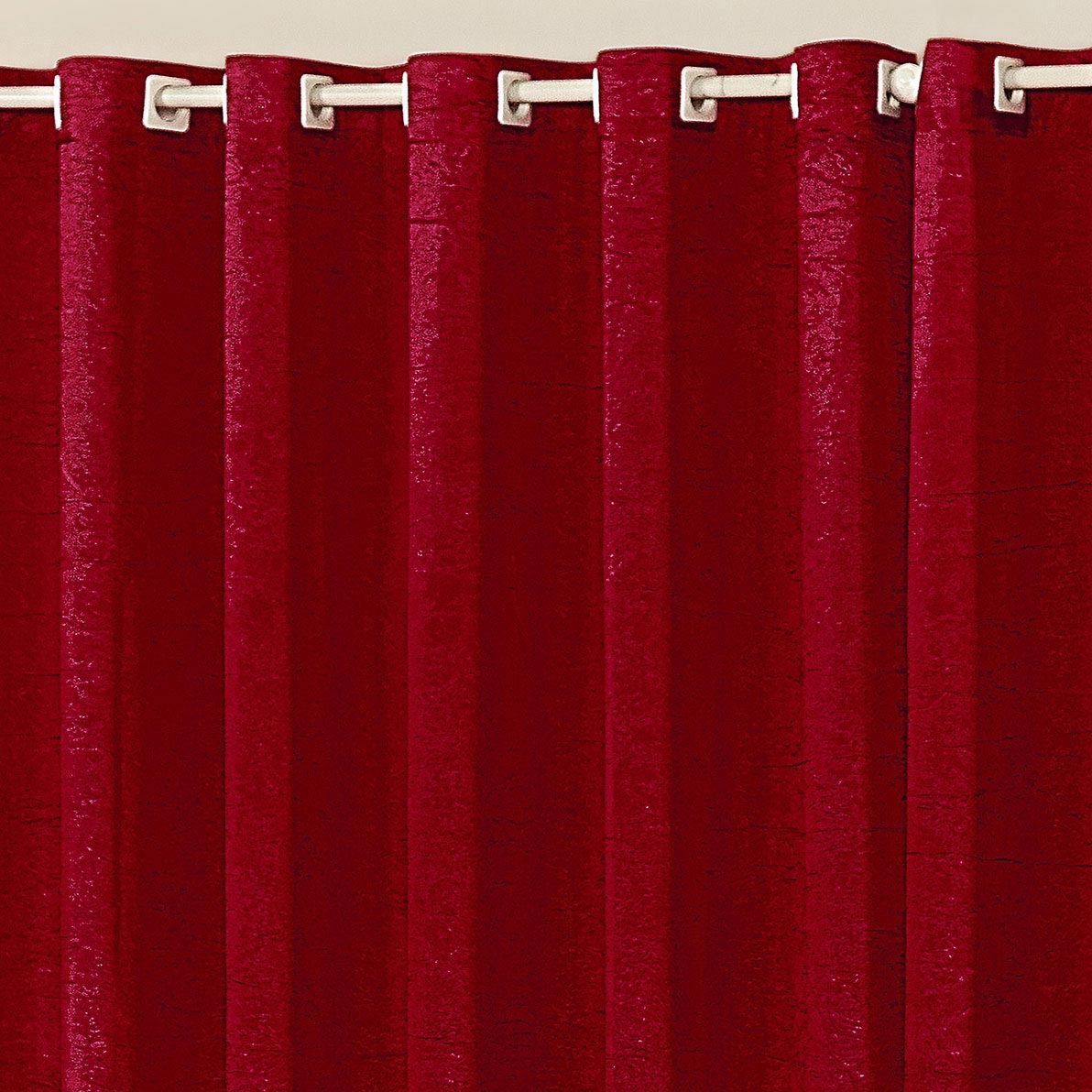 Cortina 3 metros Vermelho Cristal 1 peças Poliéster